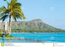 View Of Diamond Head Waikiki Stock