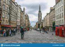 Royal Mile In Edinburgh Royalty-free Stock