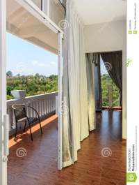 View From A Modern White Empty Room Stock Photo - Image ...
