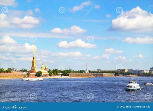 view of neva river. st. petersburg