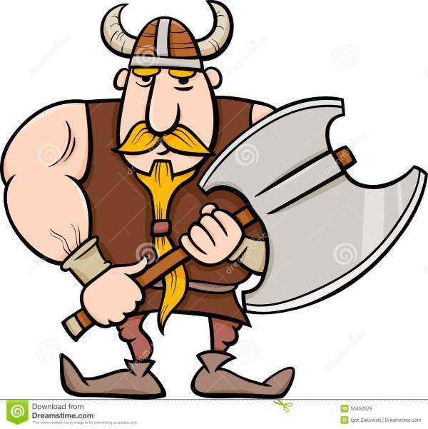 viking cartoon illustration stock