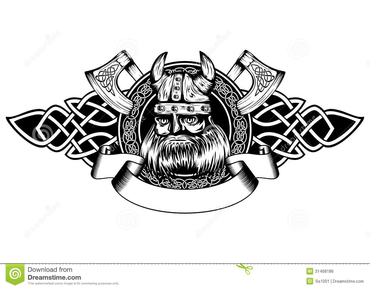 Viking In Frame Royalty Free Stock Image