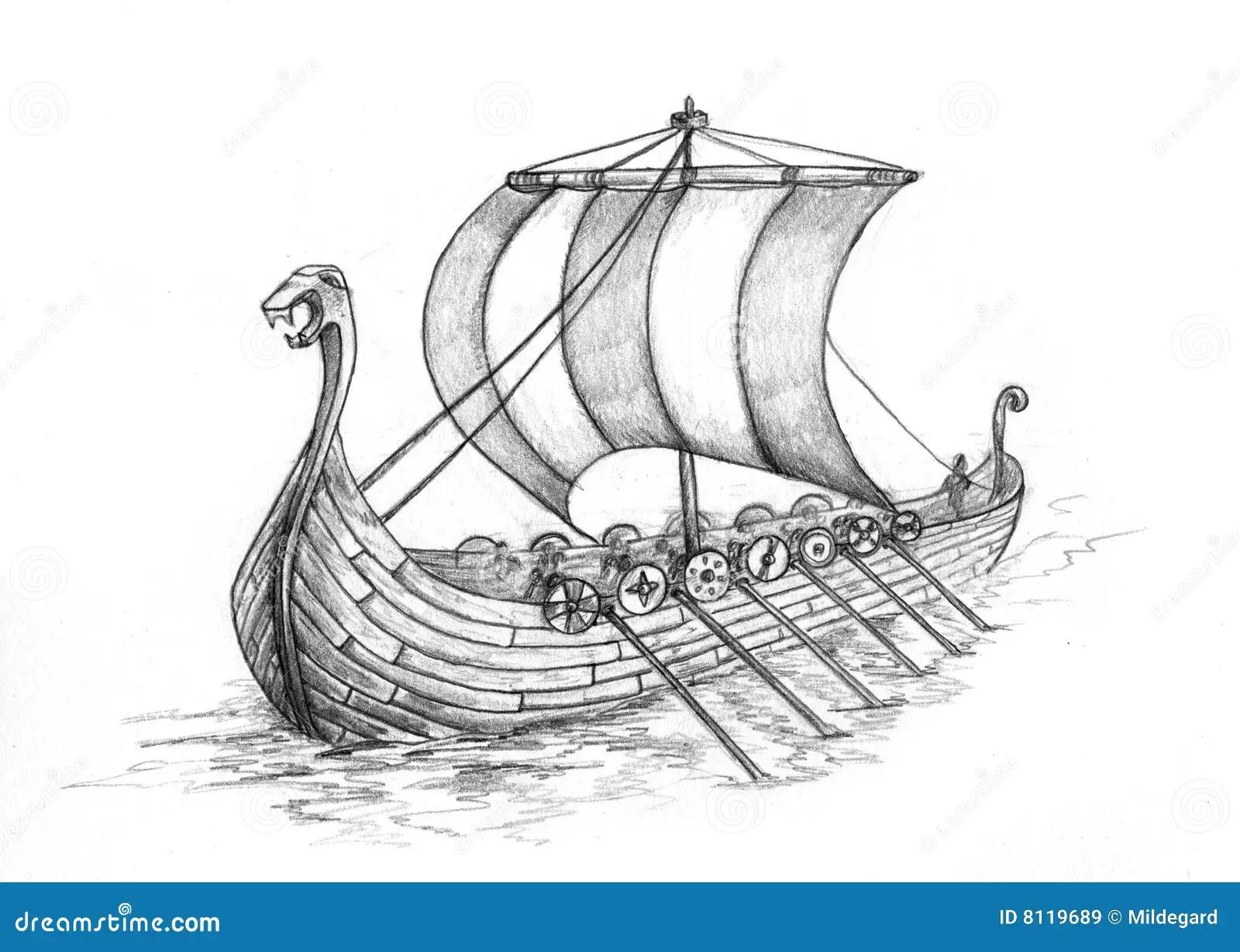Viking Ship 1 Royalty Free Stock Images