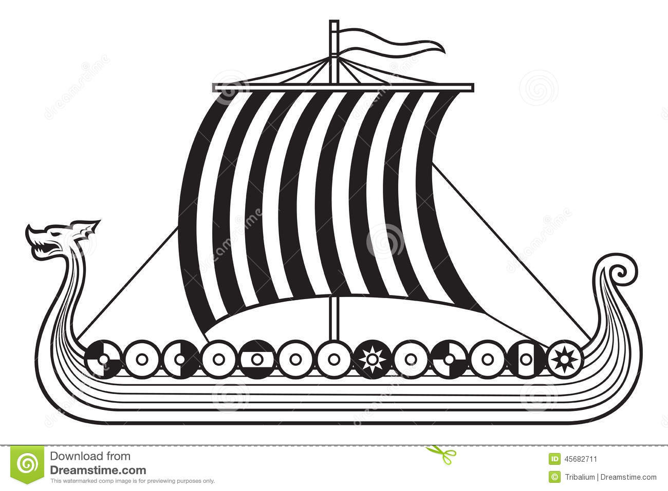 Viking Ship Stock Vector