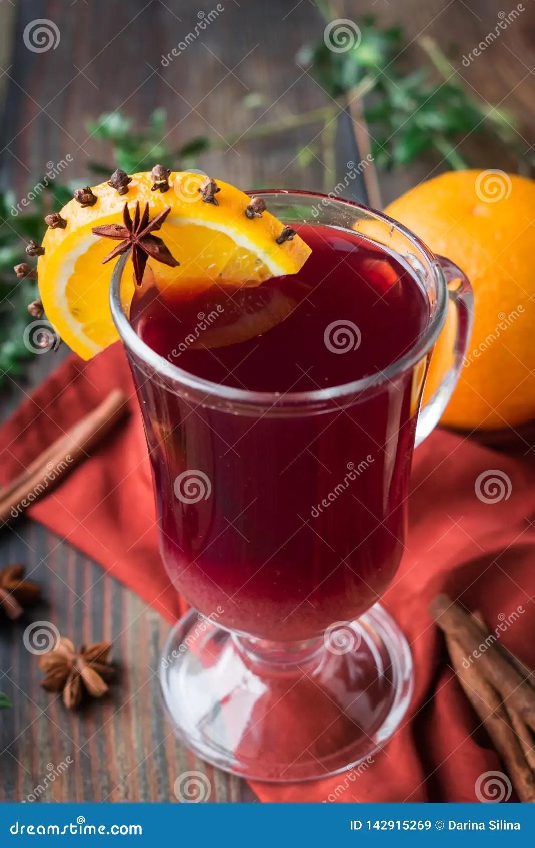 Vin Chaud Sans Alcool : chaud, alcool, Chaud, Alcool, Raisins, L'orange, épices, Gobelet, Verre, Image, Stock, Orange,, Doux:, 142915269