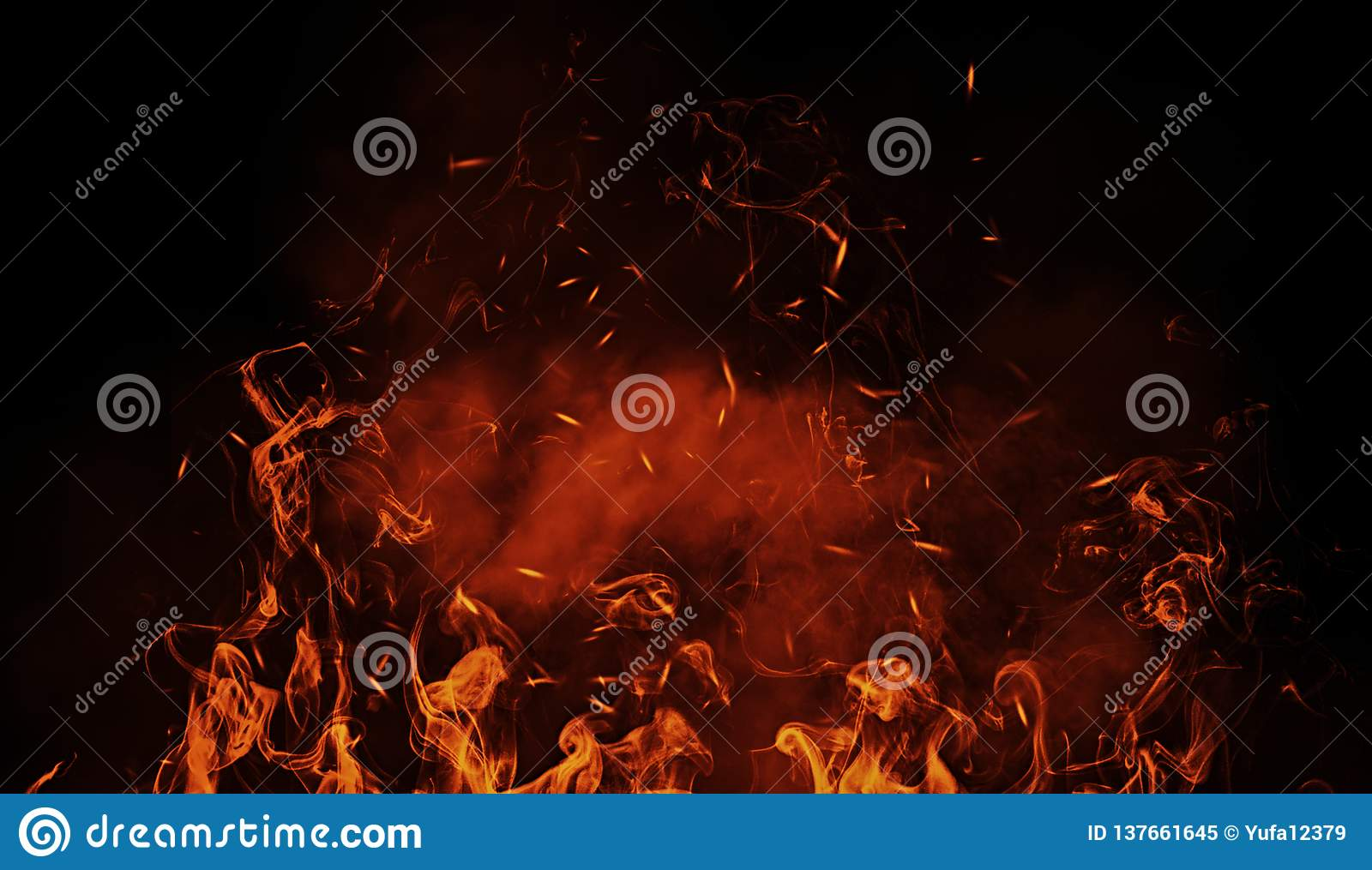 vintage abstract flames with