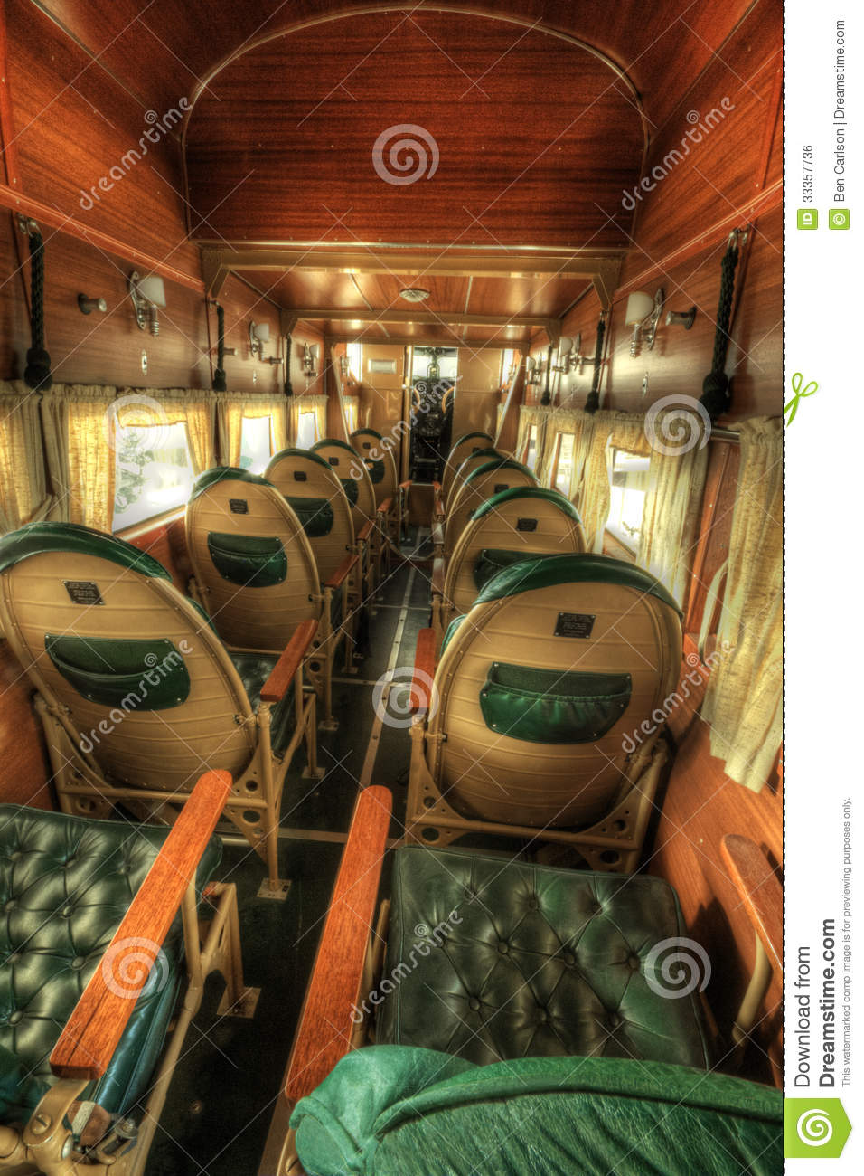 Vintage Airplane Interior stock photo Image of antique