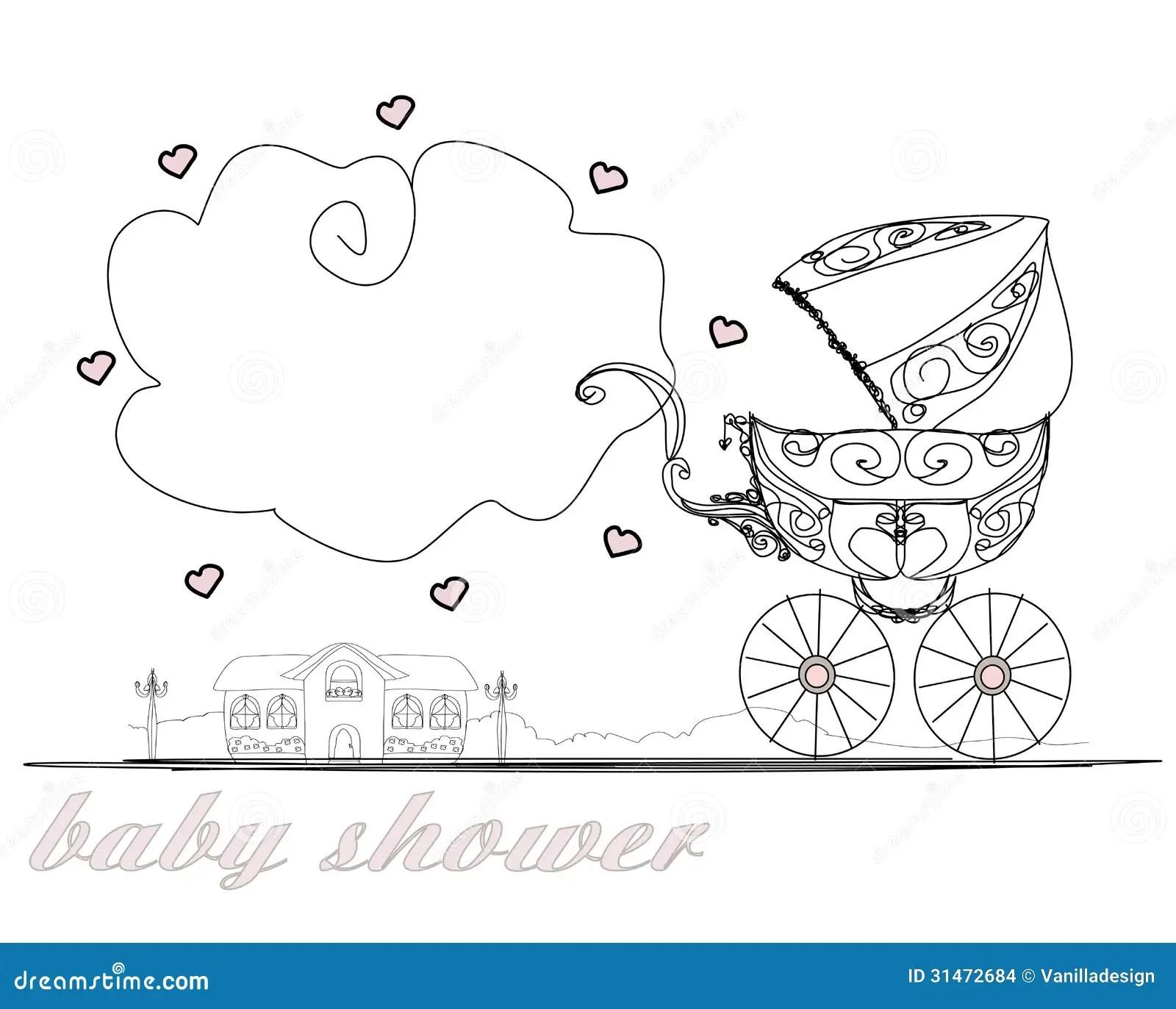 Vintage Baby Stroller Stock Images
