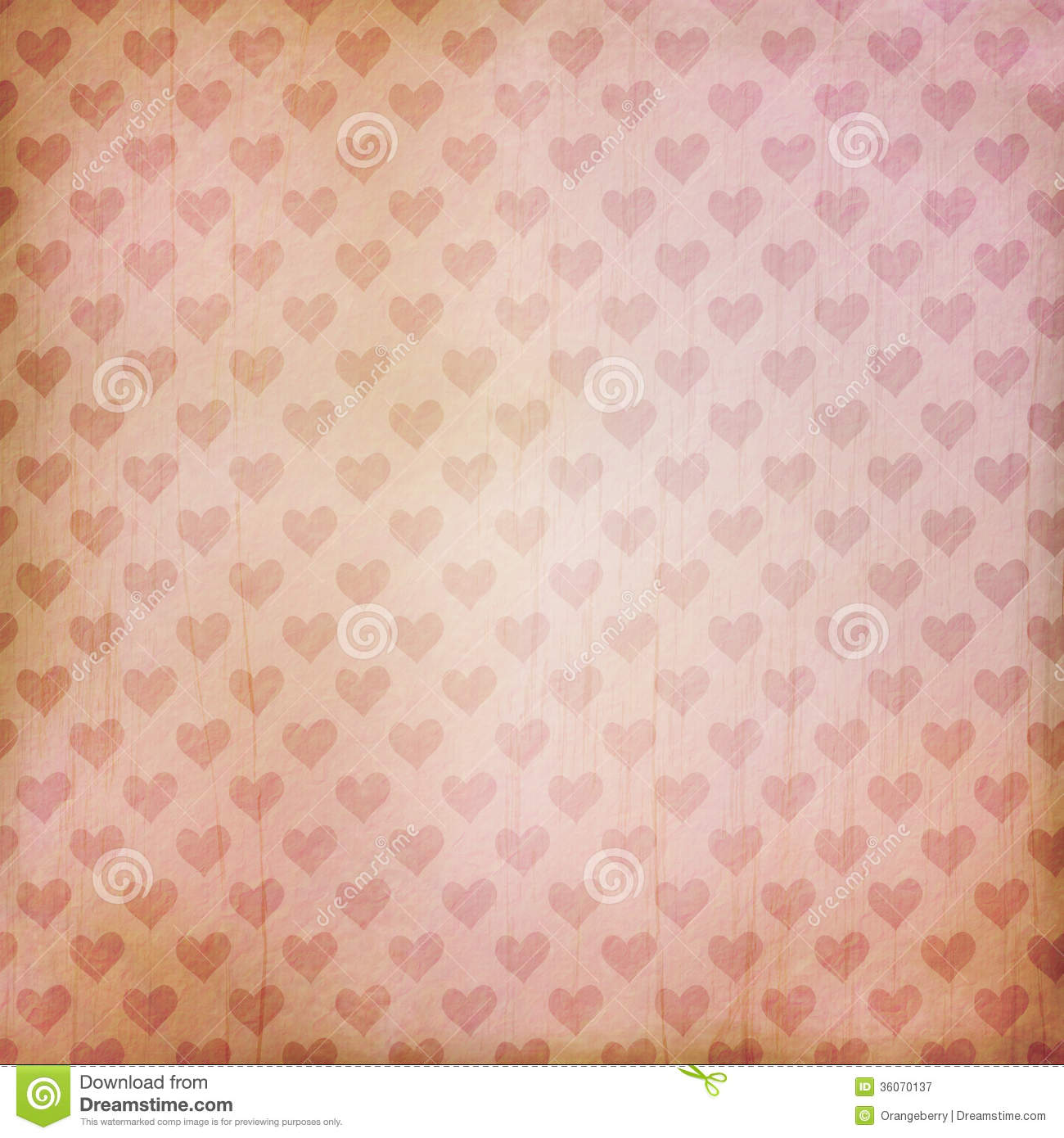 Baby Girl Pattern Wallpaper Vintage Background With Hearts Stock Illustration Image
