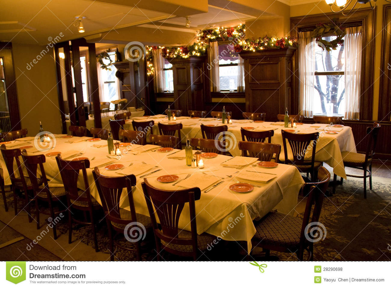 Vintage Bar Restaurant Private Party Room Stock Photo