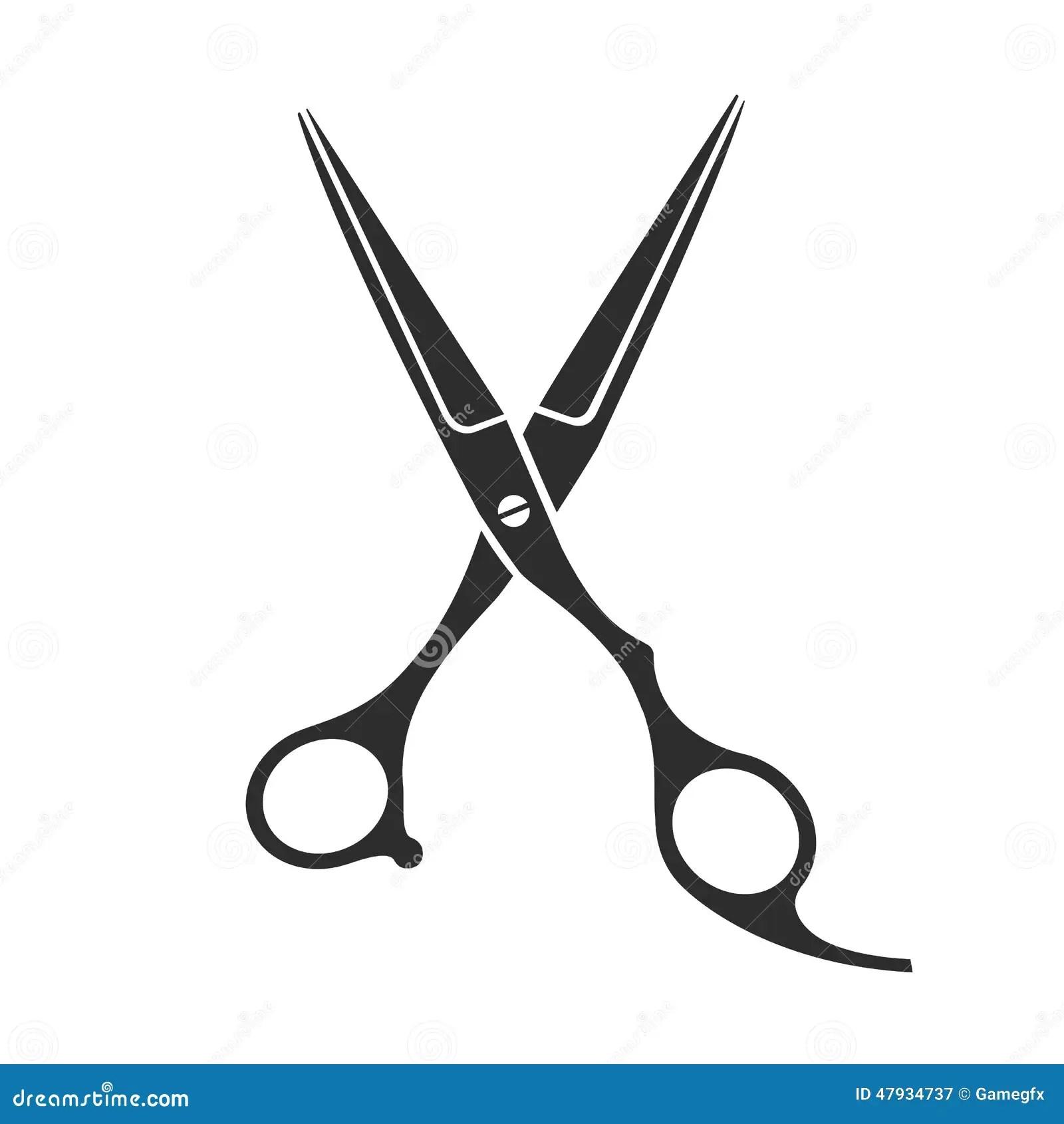 Vintage Barber Shop Scissors Stock Vector