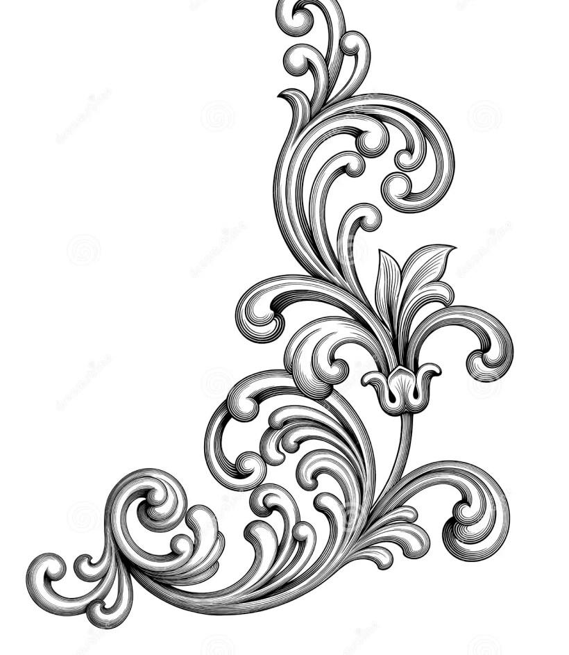 811354f8b9bf0 Vintage Baroque Victorian Frame Border Monogram Fl Ornament