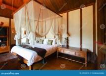Vintage Bed Rooms In Hotel Resort Stock
