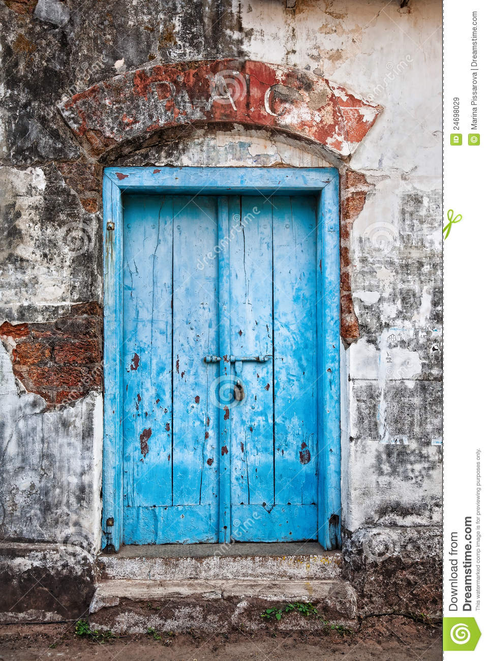 Vintage Blue Door Royalty Free Stock Images  Image 24698029