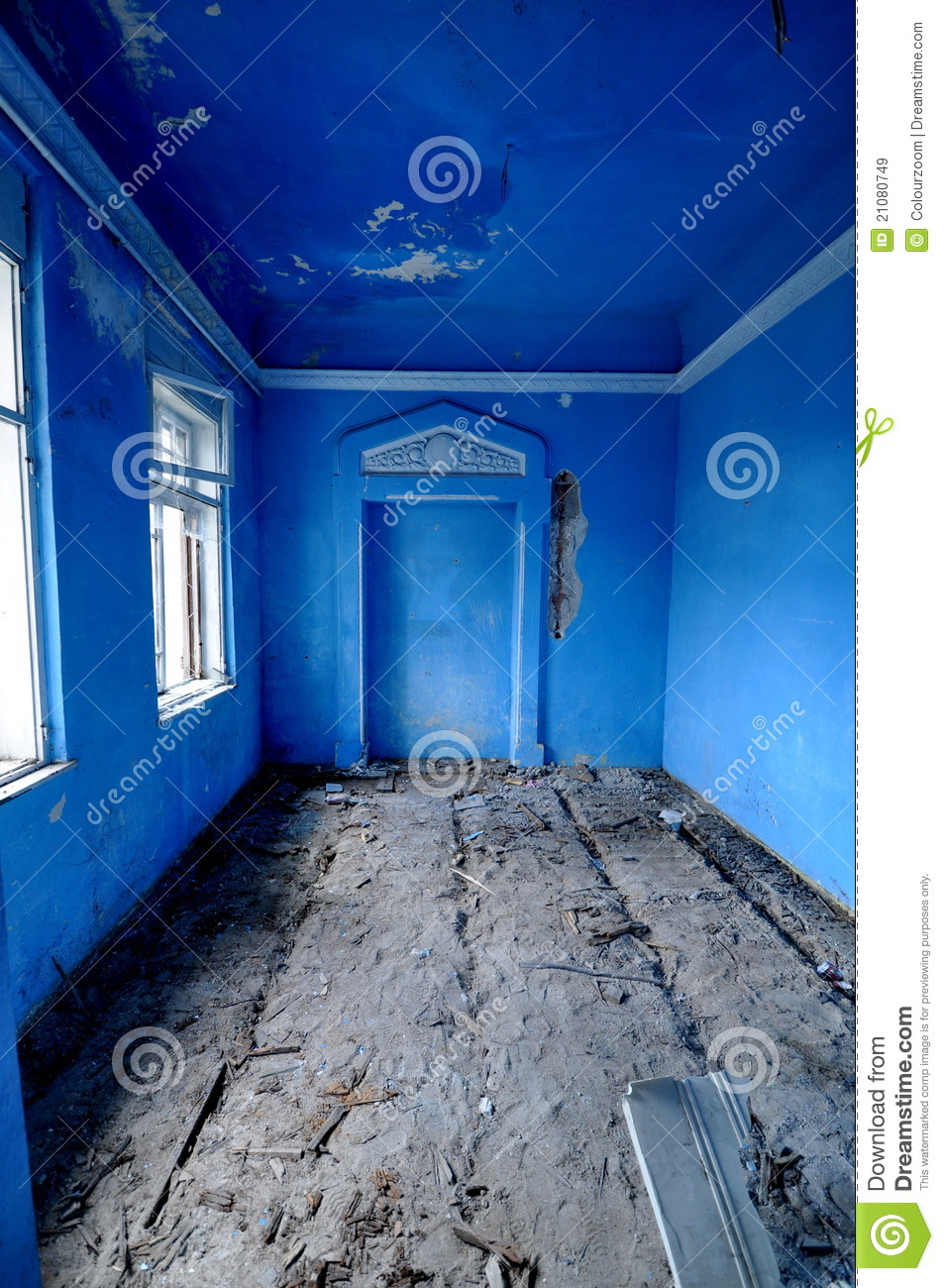 Vintage Blue Room stock image Image of arch decay
