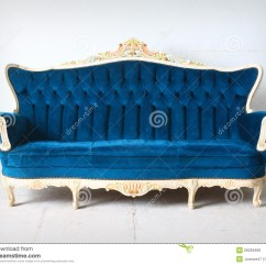 Leather Chair Modern Desk Staples Vintage Blue Sofa In The Room Stock Photo - Image: 26259460