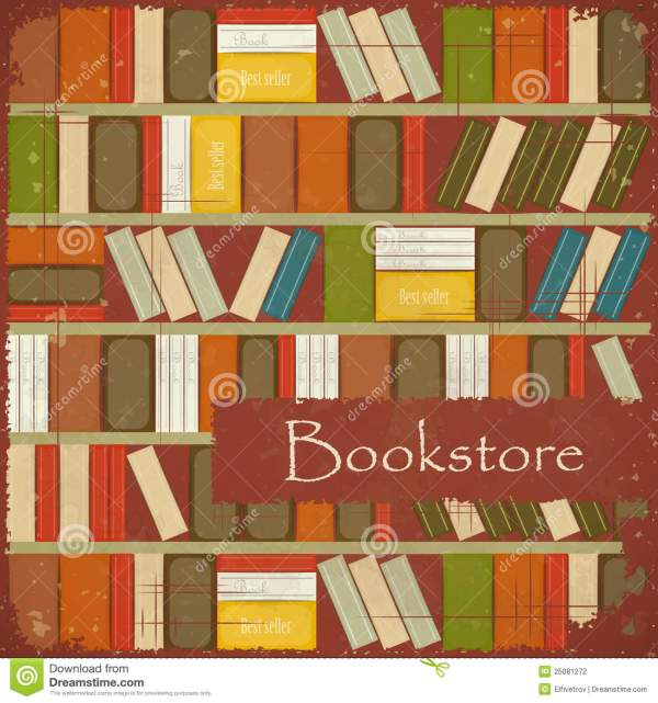 Vintage Bookstore Background Stock