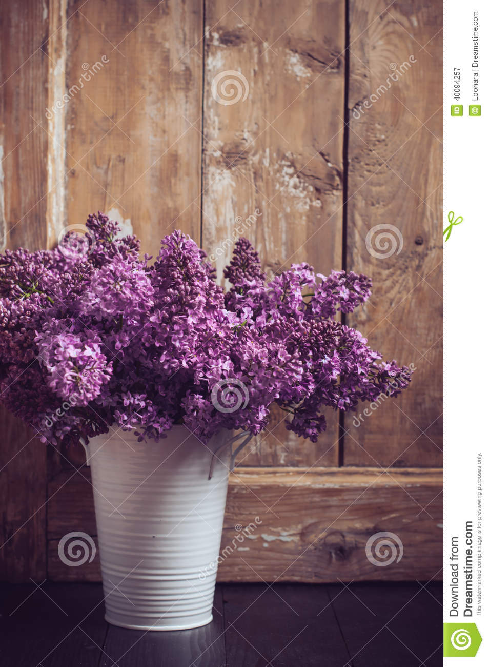Vintage Bouquet Of Lilac Flowers Stock Photo Image 40094257