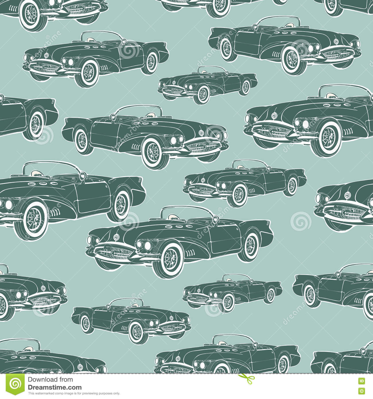 Make iphone, android, mobile and desktop screen prepossessing to get cartoon car wallpaper. Vintage Car Cabriolet Seamless Pattern Retro Cartoon Background Monochrome For The Design Of Wallpaper Wrapper Fabric Vector Stock Vector Illustration Of Cartoon Automotive 78499913