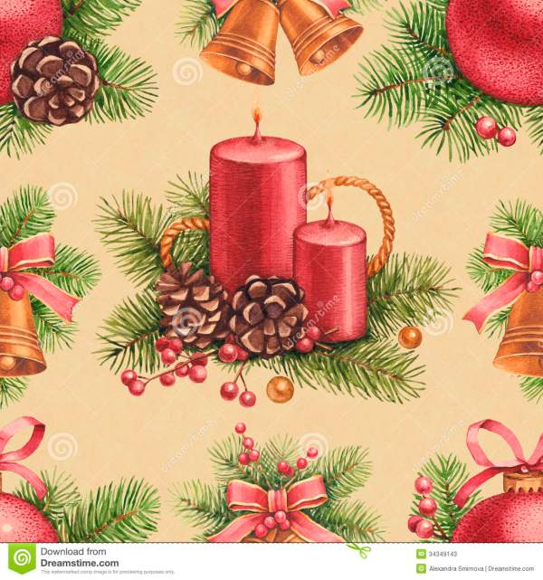 Vintage Christmas Pattern Stock - 34349143