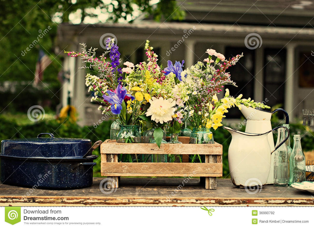 Vintage Country Flowers Stock Photography  Image 36990792