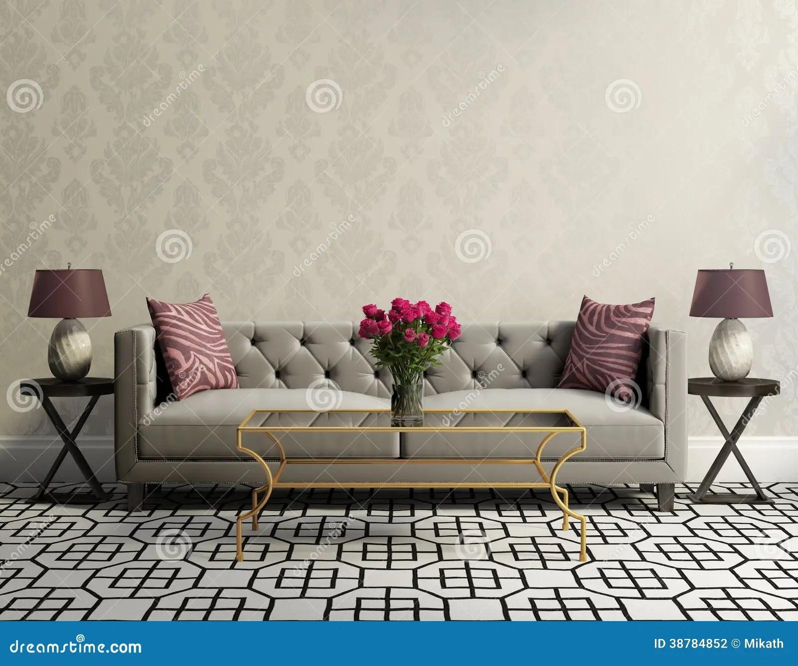 black sofa living room white faux wood blinds in vintage elegant with grey velvet stock ...