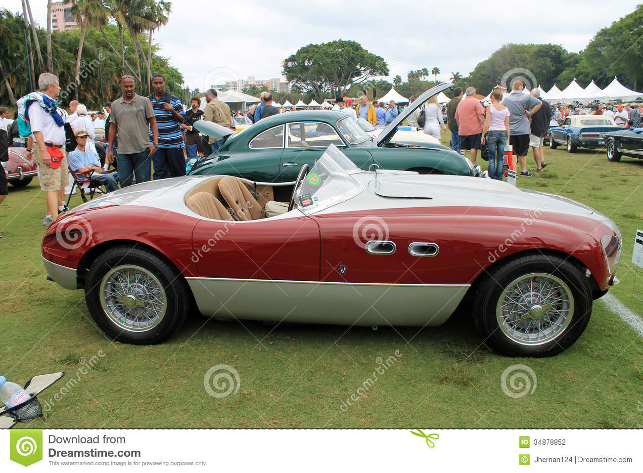Vintage Ferrari Sports Car Editorial Photography Image