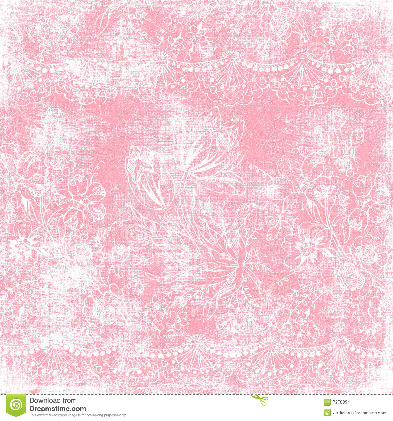 Vintage Floral Background Christmas Theme Stock