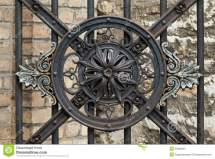 Vintage Forged Decorative Element Stock - Of