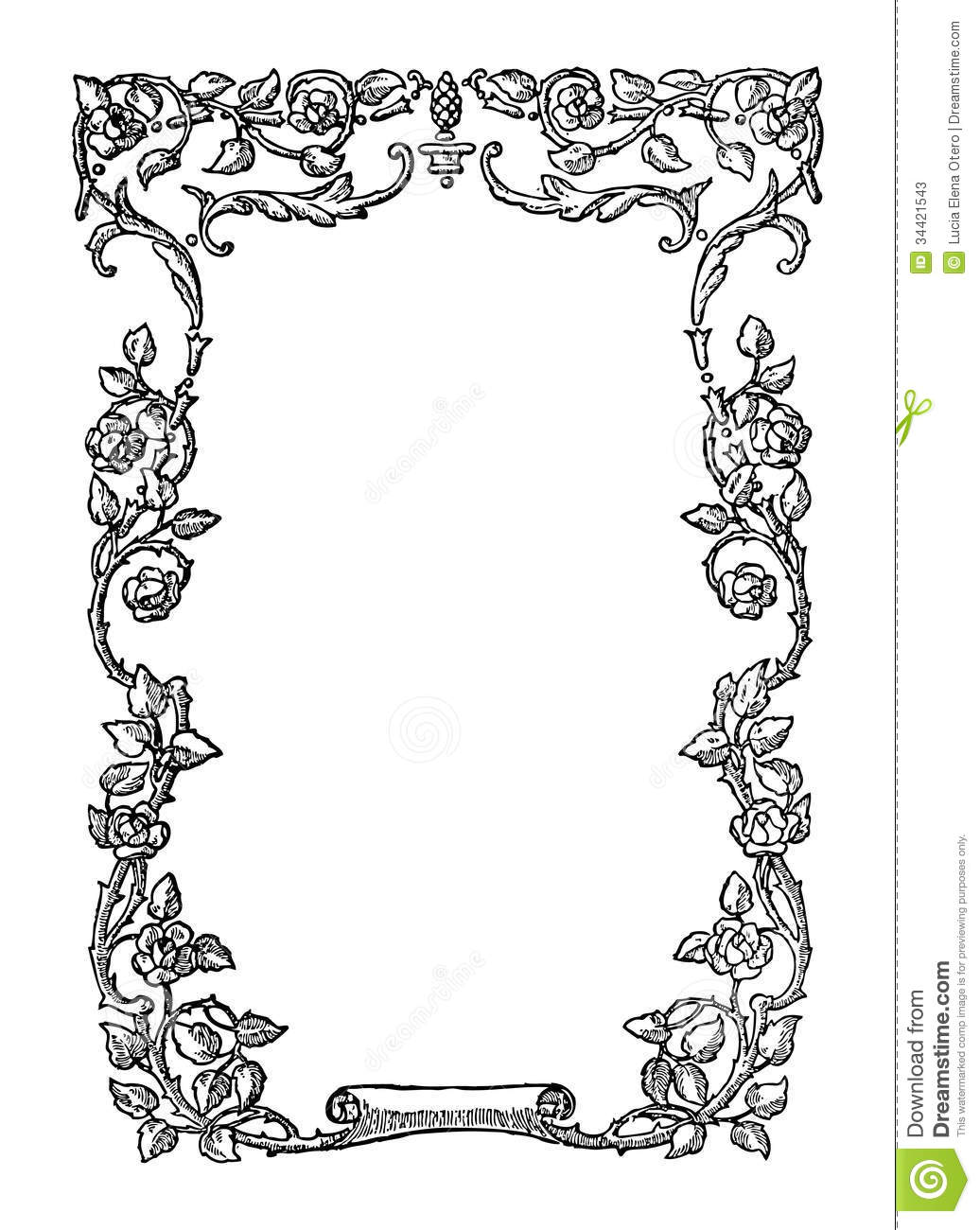 Vintage frame stock vector. Illustration of distressed