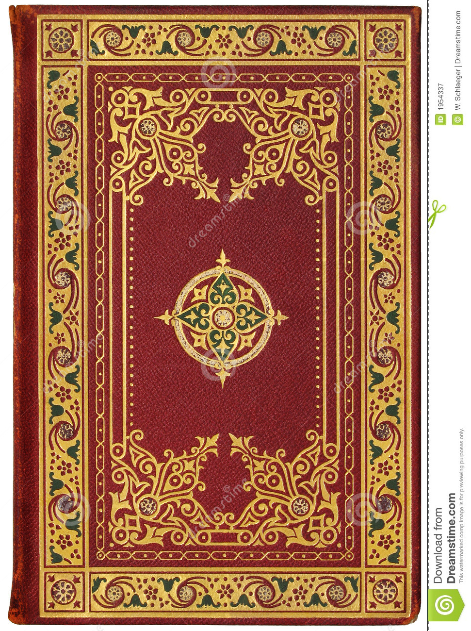 Vintage French Book Cover 1901, Edition 7/100 Stock Image