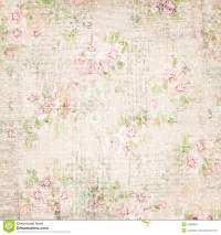 Vintage French Floral Shabby Floral Chic Wallaper Stock ...