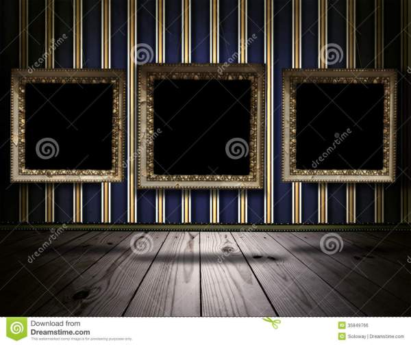 Vintage Background With Victorian Frames Stock