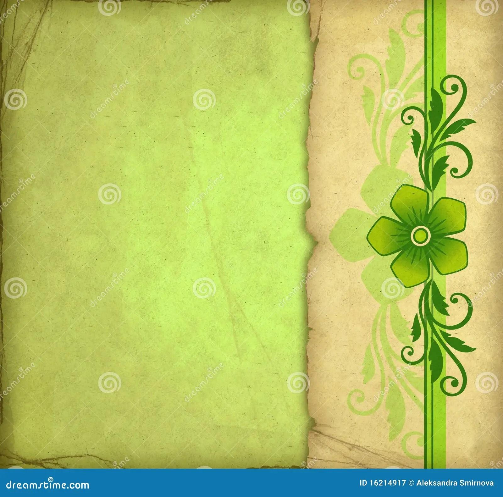 Vintage Green Background Stock Illustration Image Of