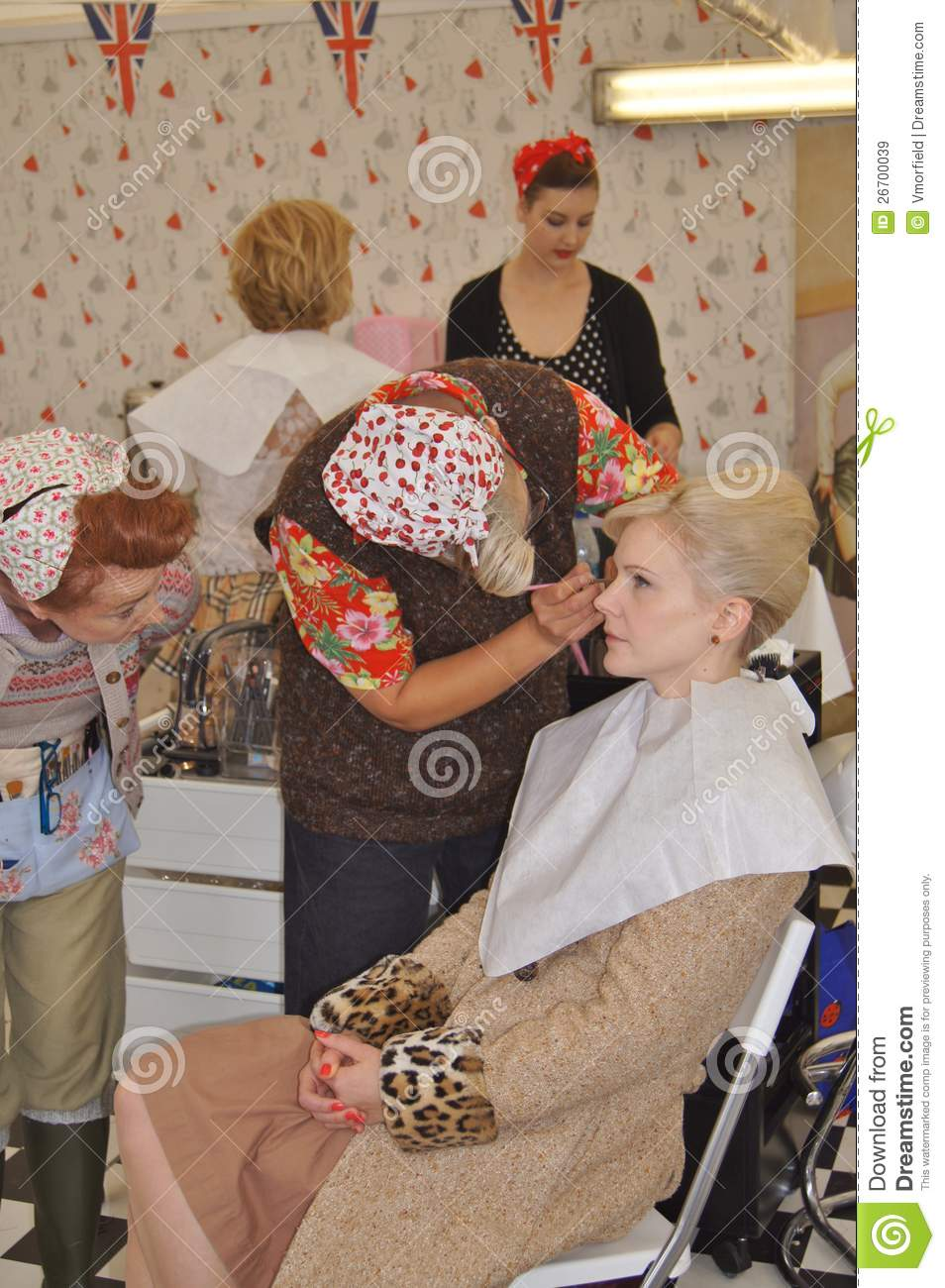 Vintage Hair And Beauty Salon Editorial Stock Image  Image of fashion coiffeurs 26700039