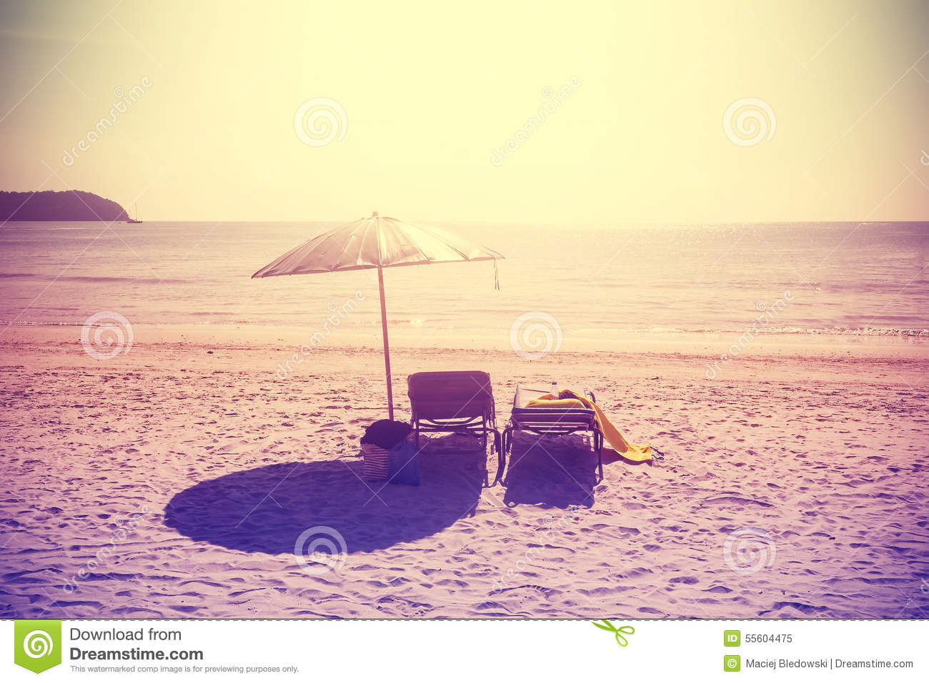 vintage beach chairs rattan and table sets instagram stylized umbrella at