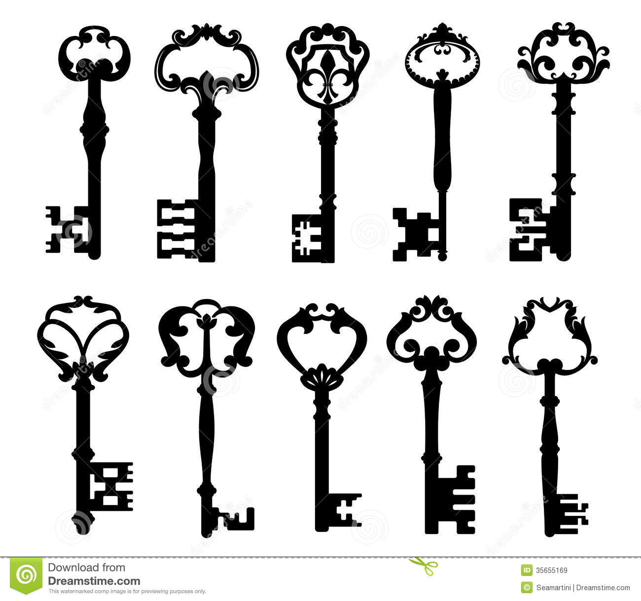 Vintage Keys Stock Vector Illustration Of Decoration