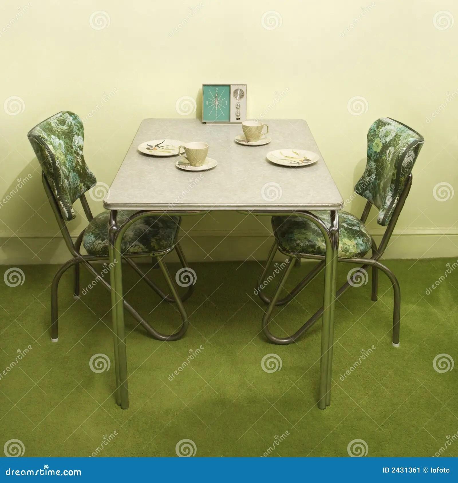 Vintage Kitchen Dinette Set Stock Image  Image 2431361