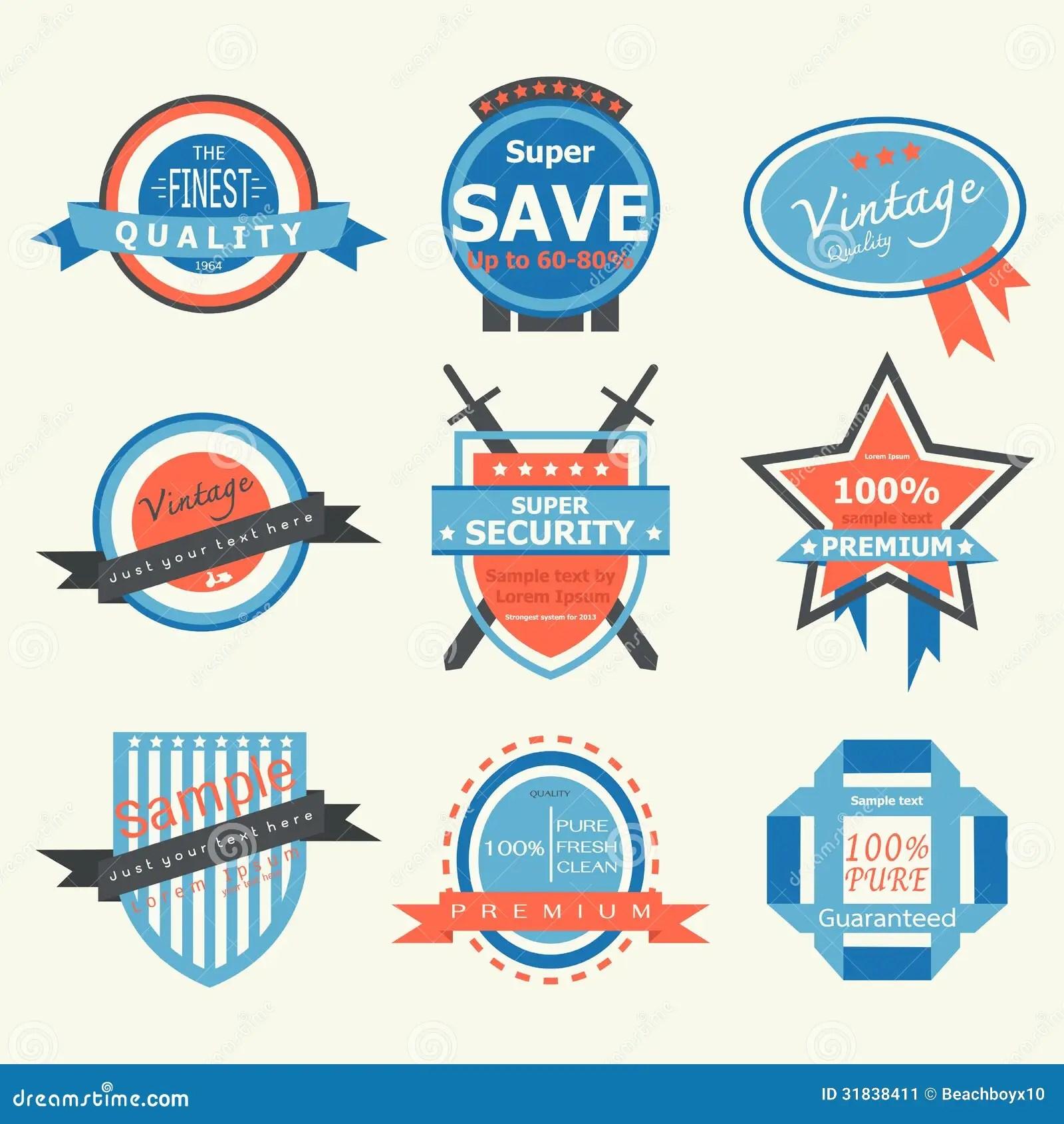 vintage label badge stock