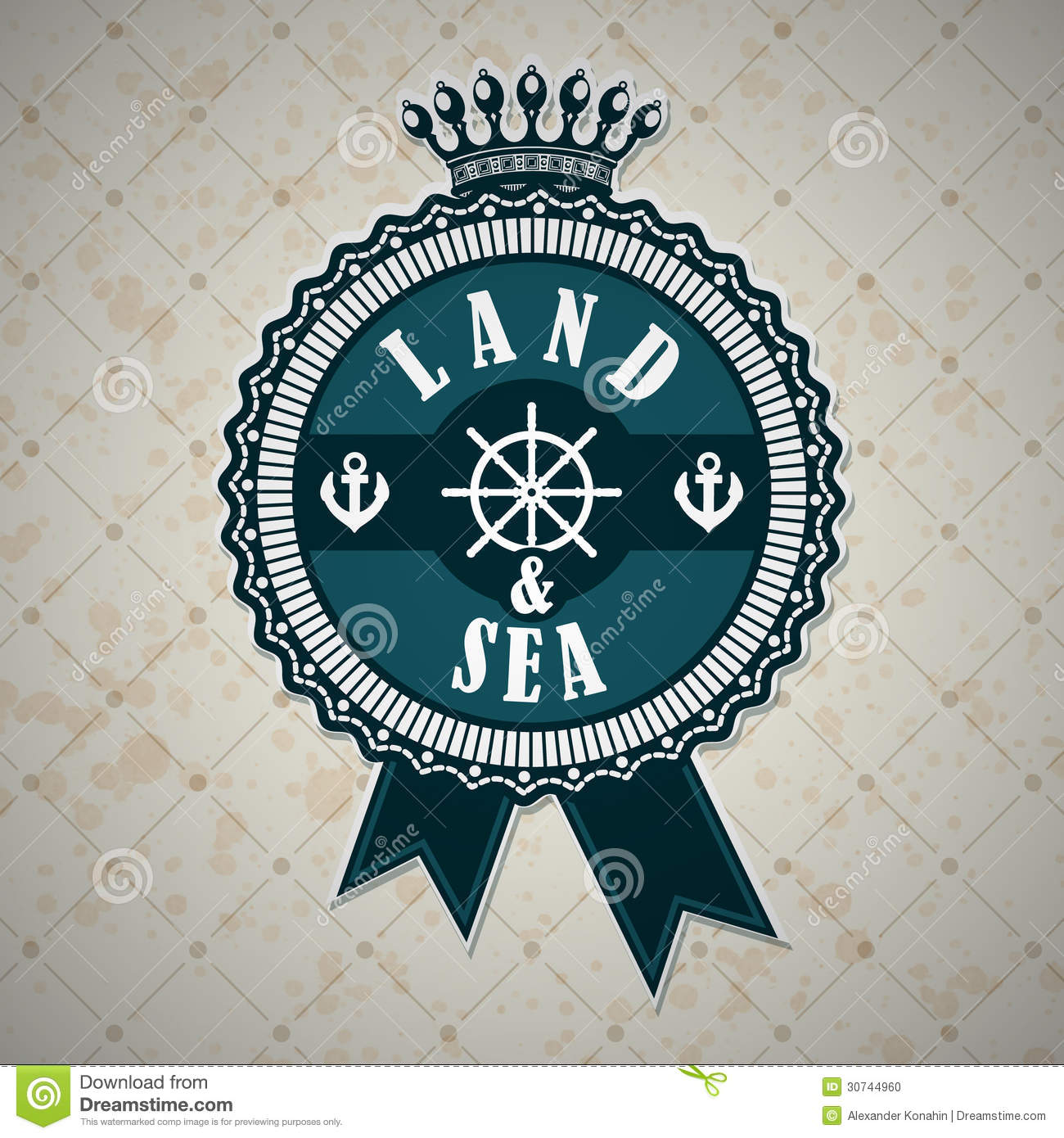 Vintage Label With A Nautical Theme Stock Vector