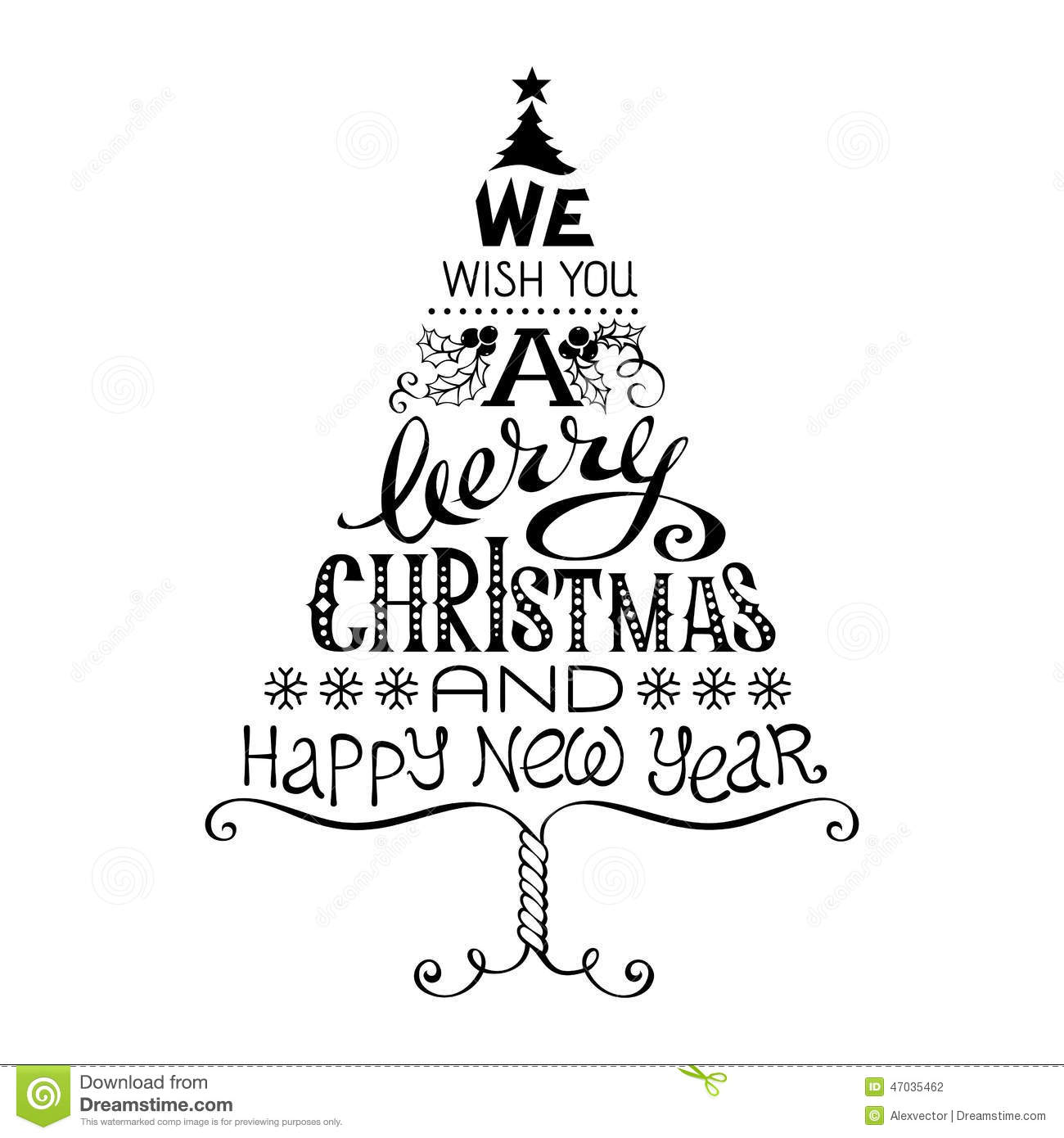 Vintage Merry Christmas And Happy New Year Stock Vector