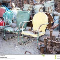 Old Metal Chairs Double Adirondack With Table Vintage For Sale Stock Photo Image 40295908