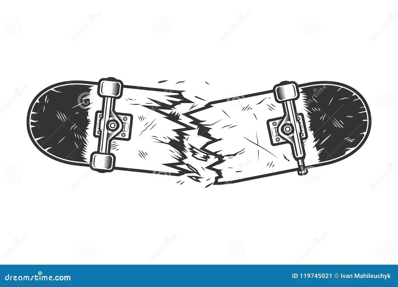 Broken Skateboard Stock Illustrations 105 Broken