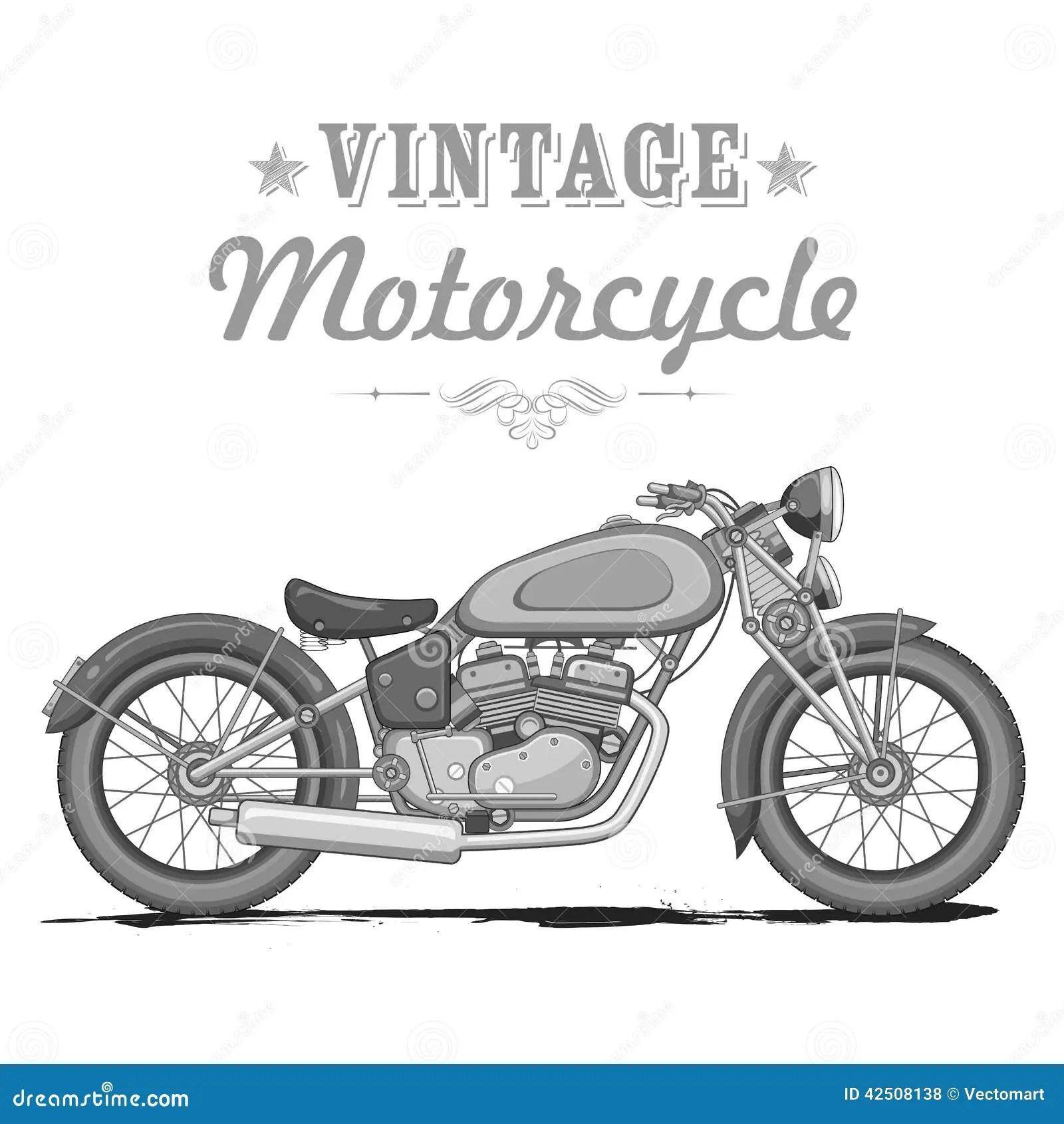 Vintage Motorcycle Stock Vector