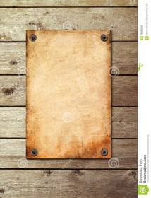 Vintage Page Wooden Wall Stock - Of