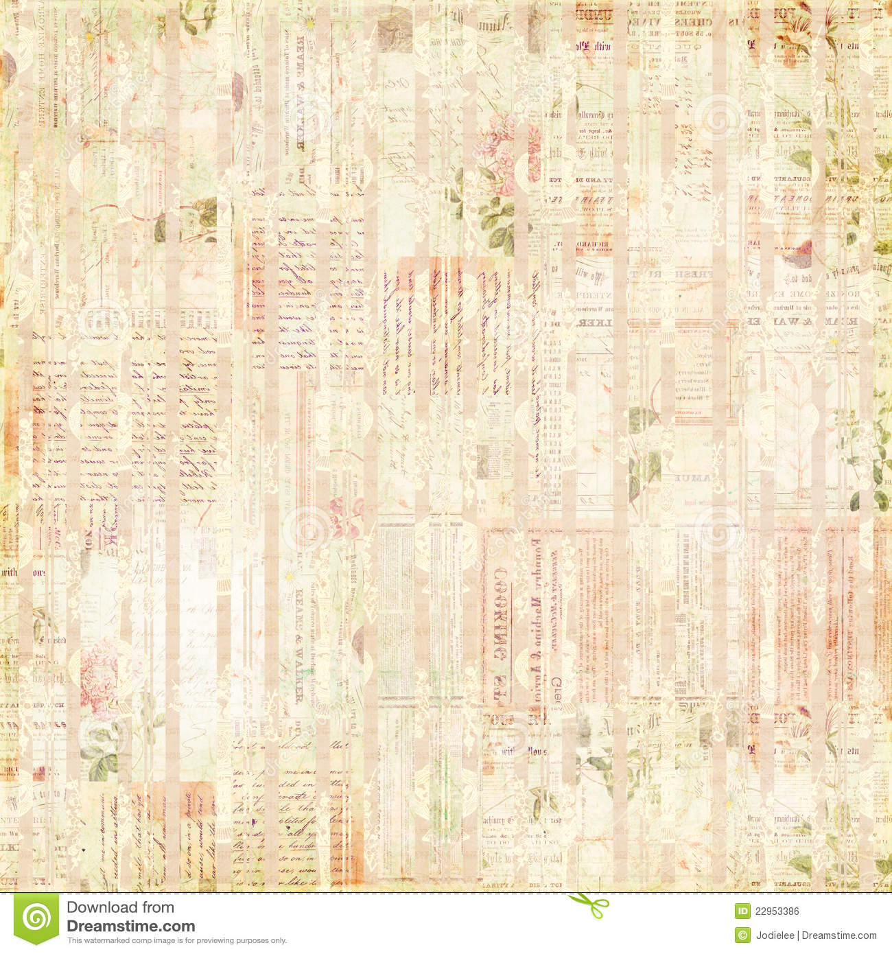 Background Faded Newspaper