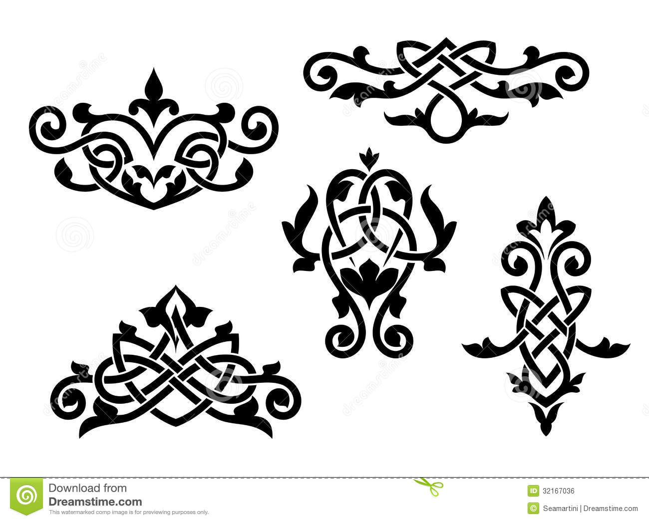 Vintage Patterns And Embellishments Stock Vector