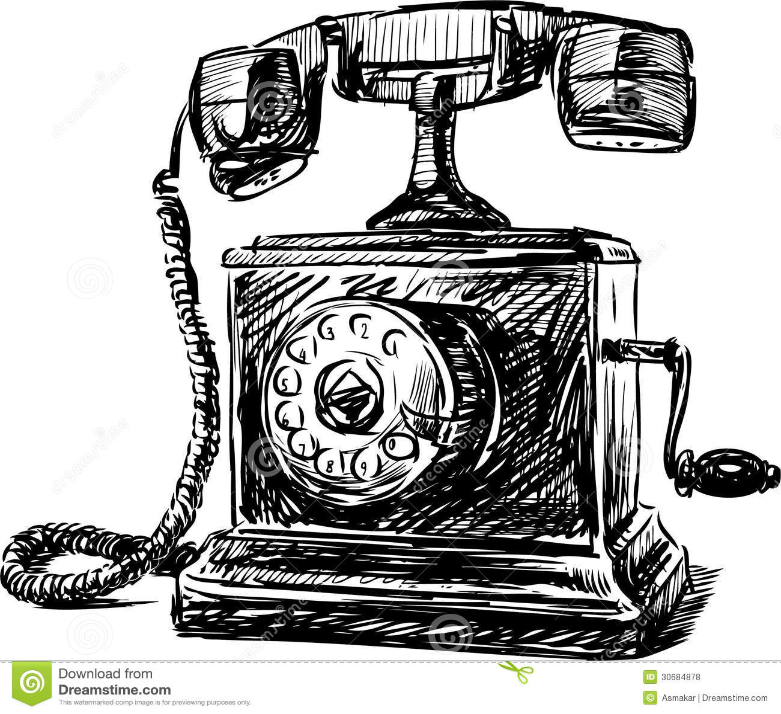 Vintage Phone 2 Royalty Free Stock Photos