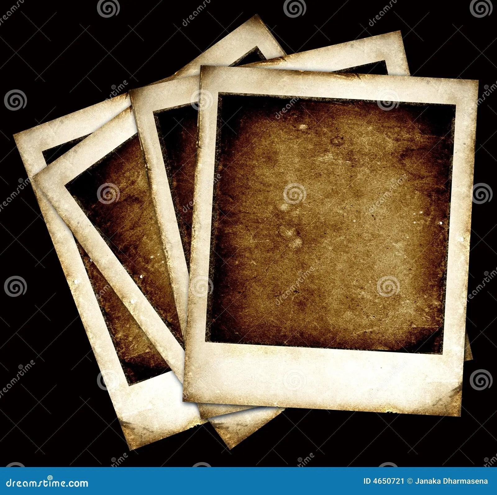Vintage Polaroid Frames Stock Image  Image 4650721