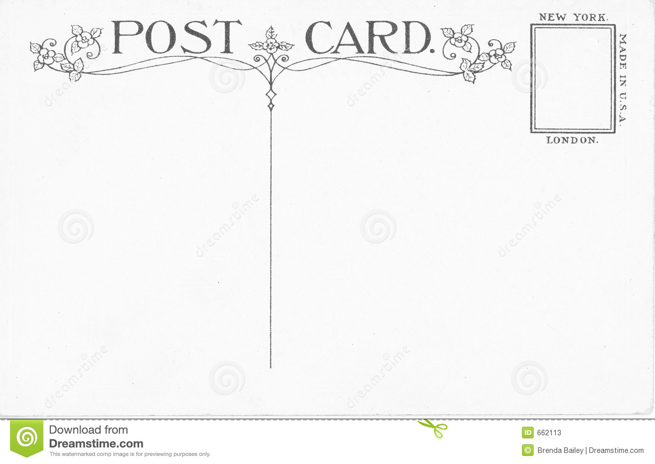 Vintage postcard stock image. Image of stationary, cent